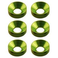 Axial Cone Washer 3x6.9x2mm Green (6)